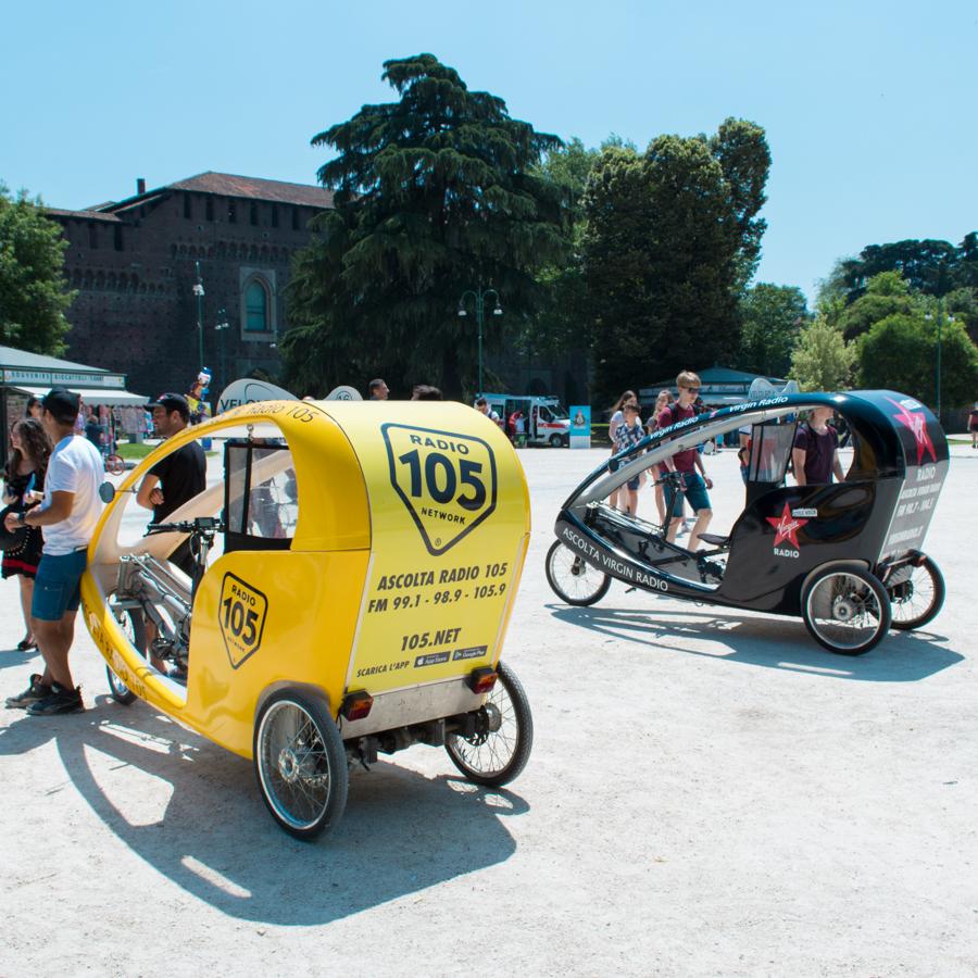 Radio Mediaset Rickshaw Risciò Milano