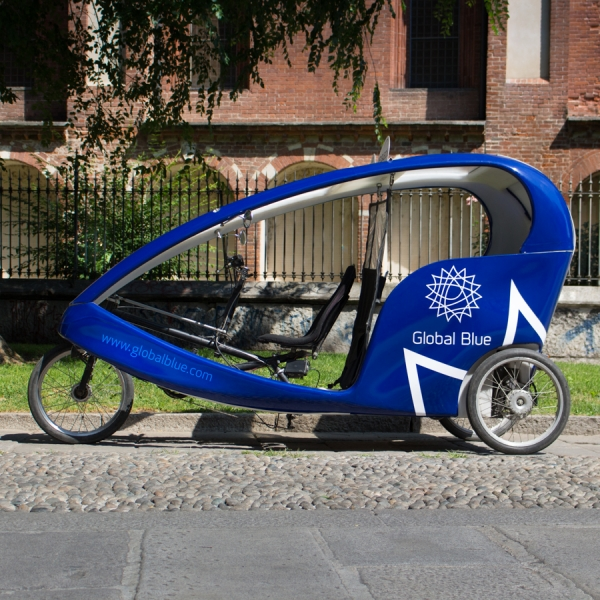 Global Blue Rickshaw Risciò Milano