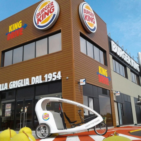 Burger King Veloleo Rickshaw risciò