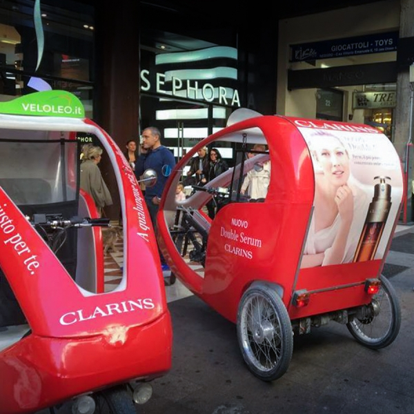 Clarins Veloleo Rickshaw risciò