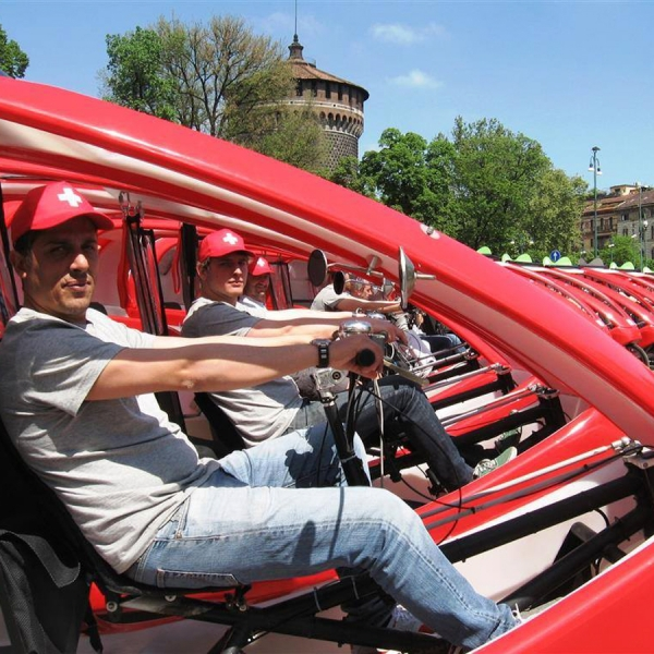 Formaggi Svizzeri Veloleo Rickshaw risciò