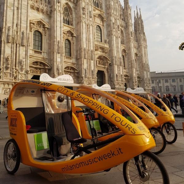 Milano Music Week Veloleo rickshaw risciò