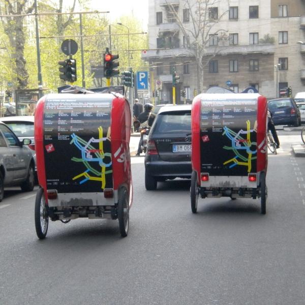 Salone del Mobile Veloleo Rickshaw risciò