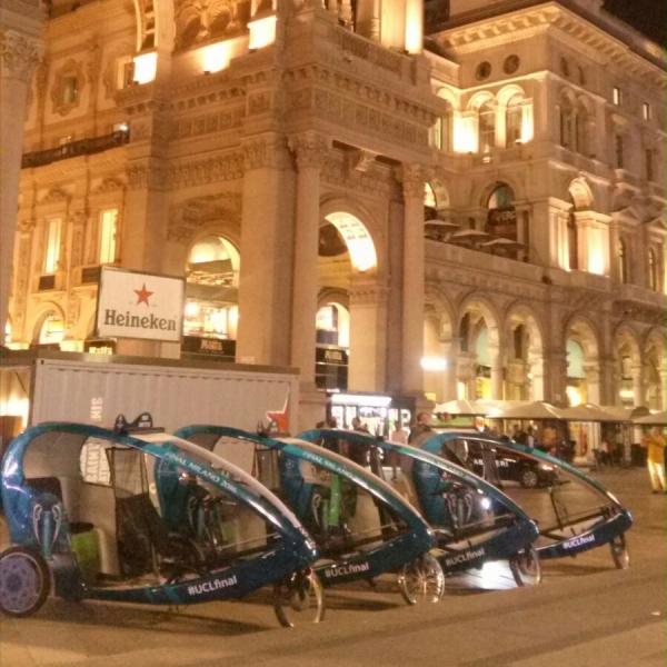 UEFA Veloleo Rickshaw risciò