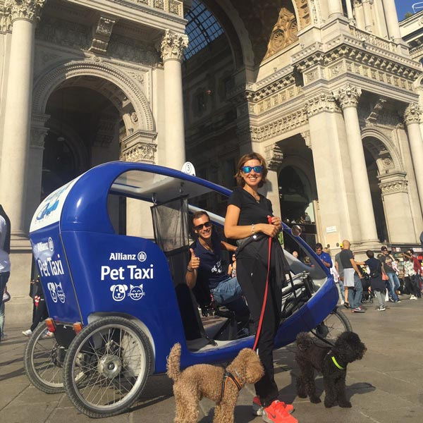 Pet Taxi in VeloLeo per Allianz
