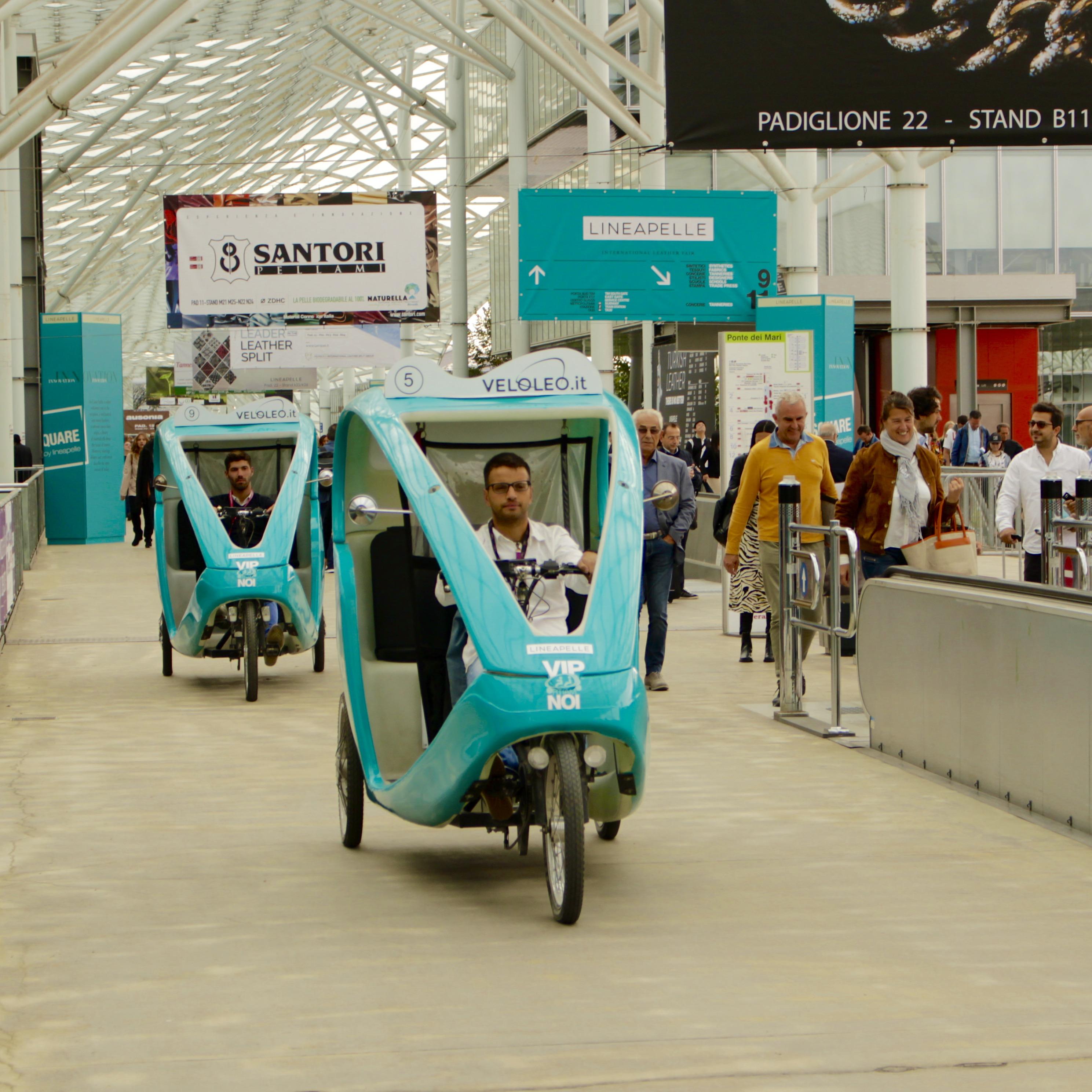 Fieramilano Lineapelle Veloleo Rickshaw risciò